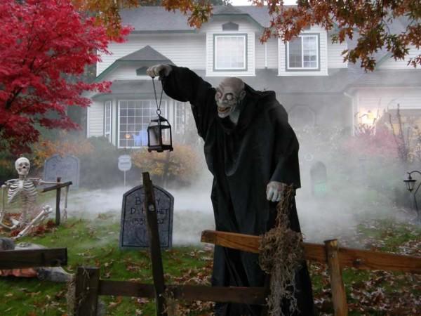 un décor horrifique dans la maison pour halloween !