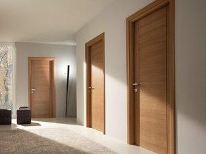 Plusieurs portes en bois massif en bloc porte