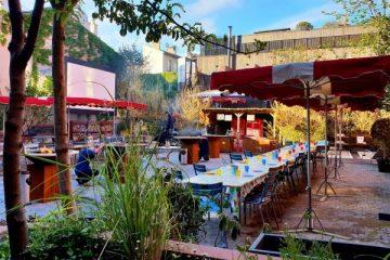 terrasse de son restaurant