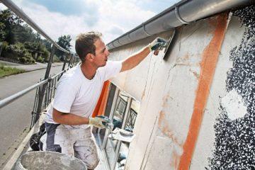 nettoyage d'une façade en carrelage
