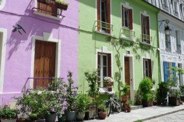 Facades de maisons colorées